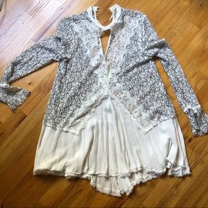 Free People lace boho dress size S